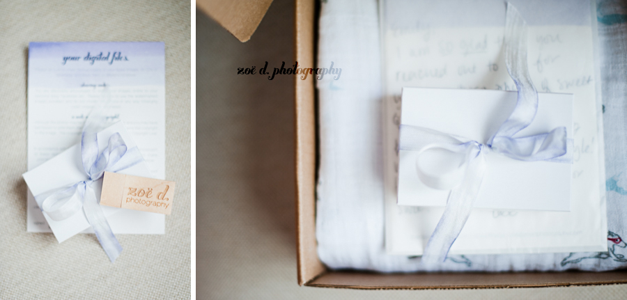zoe d photography branding digital files and release form in packaging