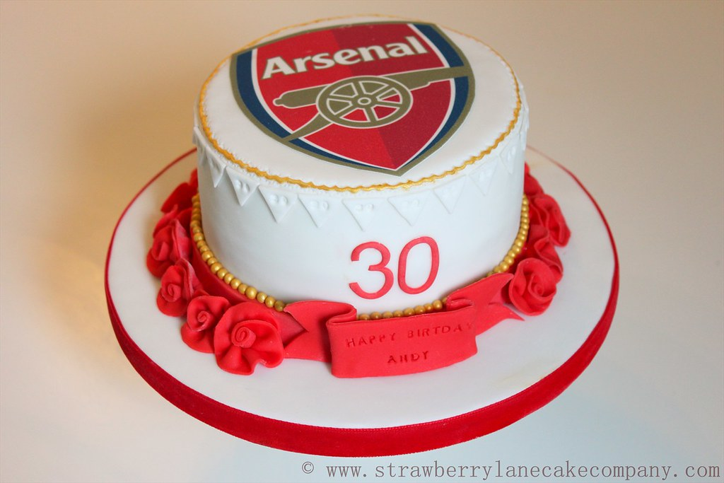 Arsenal Football Cake a photo on Flickriver