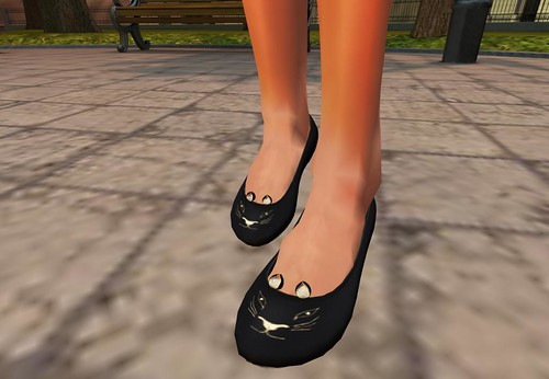Baby Monkey Kitty Flats by Cherokeeh Asteria