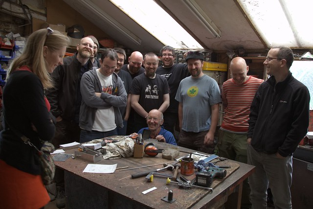 Happy Hackers in Tim Hunkin's workshop