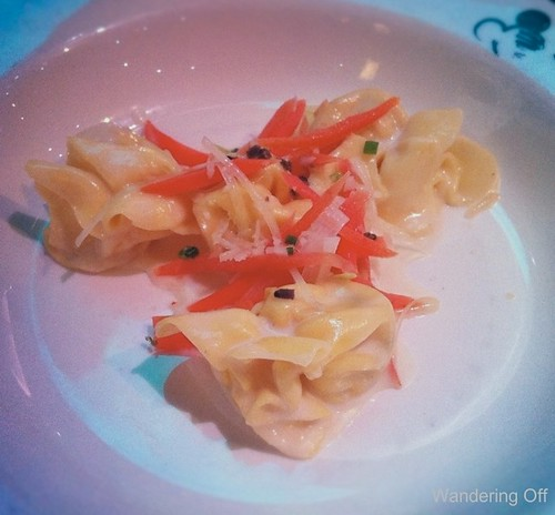 black truffle pasta aboard the Disney Dream.