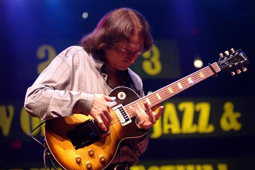 Sonny Landreth at Jazz Fest 2003.  Photo Leon Morris.