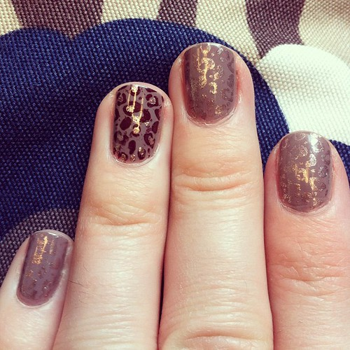 Rose gold leopard.
