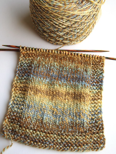 Greenwoodfiberworks-fiber club May 2012-Downton-407yds-3ply-swatch-4mm needles-30stitches