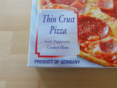 Thin Crust Pizza--Product of Germany