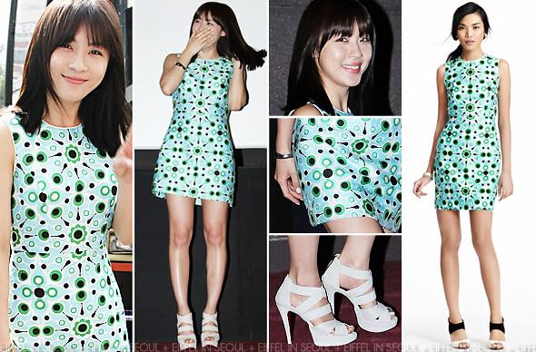 Eiffel In Seoul Ha Ji Won Wears Kate Spade To As One Press Event