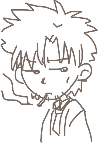 120526(2) - 聲優「恒松あゆみ」心血來潮畫出《Fate/Zero》所有角色的塗鴉、只有「久宇舞弥」發揮100%實力(笑) (1/18)