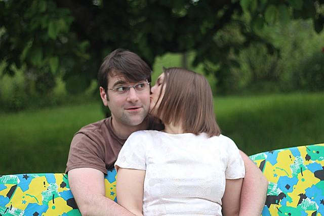 cheesy couple photo