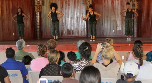 Step Afrika entertained a crowd of 250 at the National University of Samoa's Fale in the lead-up to Friday's 50th Anniversary of Samoan Independence.