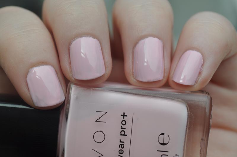 avon nailwear pro+ pastel pink notd nail polish