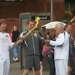 The relay runners meet - Burslem