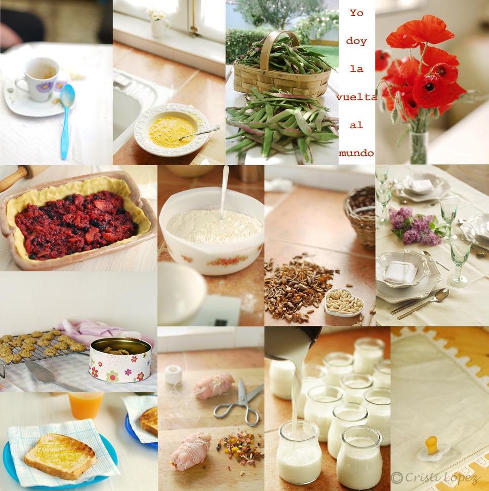 Mosaico fotos en mi mesa