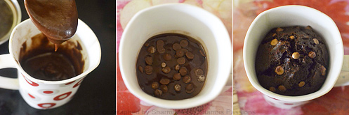 How to make microwave chocolate cake - Step2