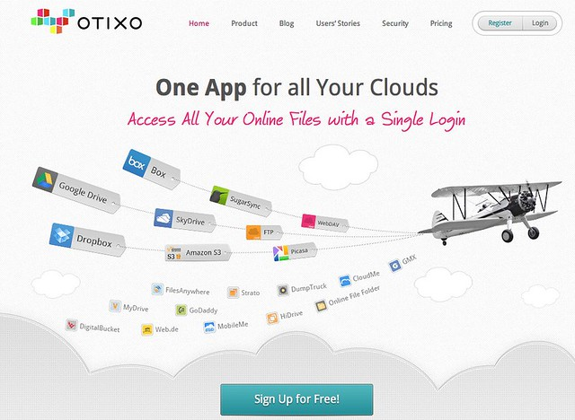 Otixo: All your cloud files from a single login