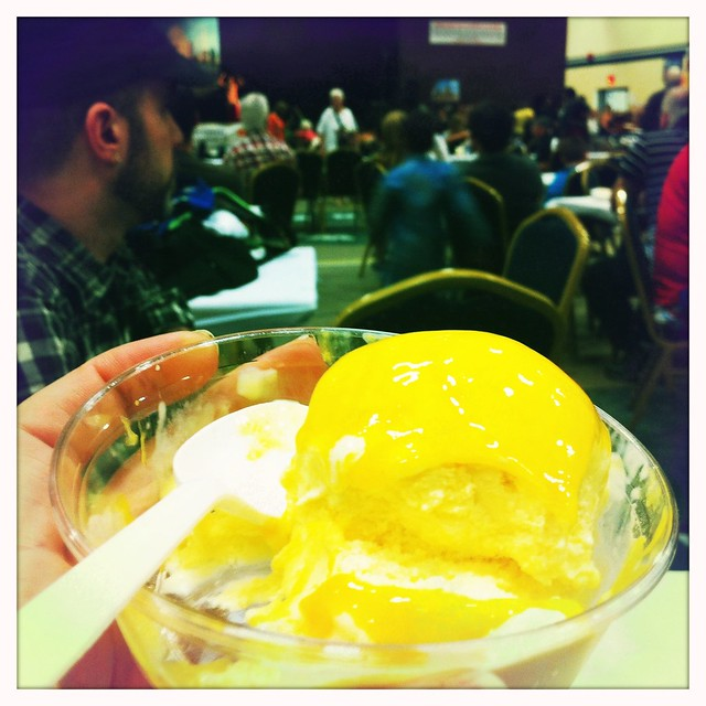 mango ice cream at the India pavilion