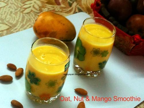 oat, nut & Mango Smoothie
