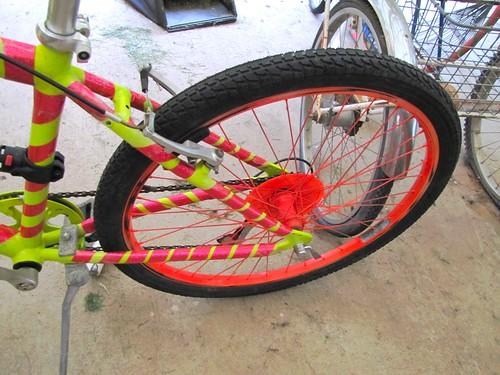 neon bike wheel