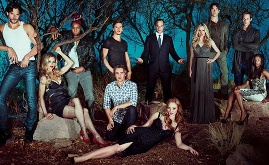 season five cast photo of True Blood
