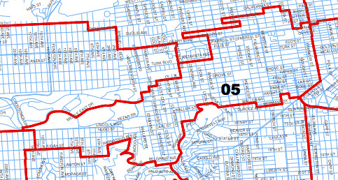 Districts Of San Francisco Map.Map Of Supervisory District 5 In San Francisco District 5 Flickr