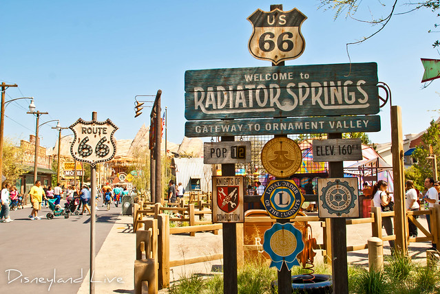 Cars Land - Welcome to Radiator Springs Sign