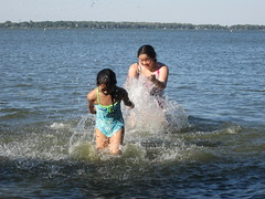 Playing in Lake Shetek