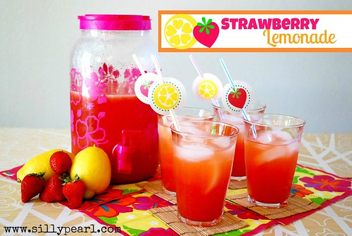 Strawberry Lemonade on Multiples in the Kitchen