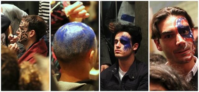 Men's face paint for Notte Bianca Florence