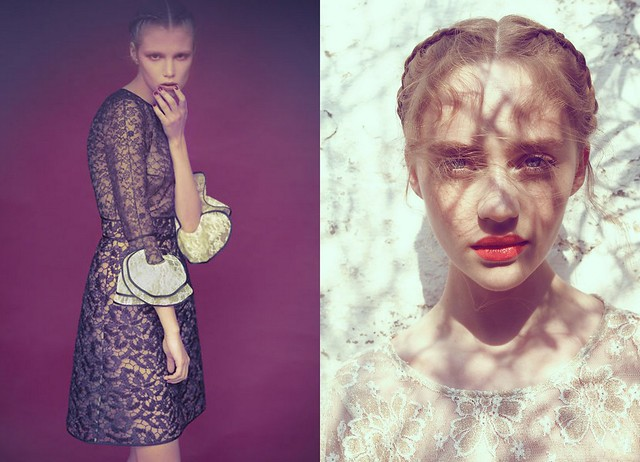 Yulia by Wee Khim in Valentino for L'Officiel Singapore April 2011, Brynja Jónbjarnardóttir by Antia Pagant for Fashion Gone Rogue angel lacelight2