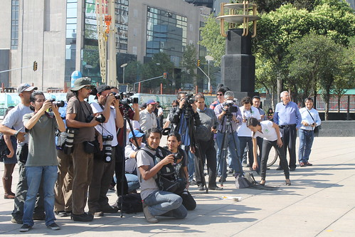 The media swarm Oxfam's G20 stunt in Mexico City