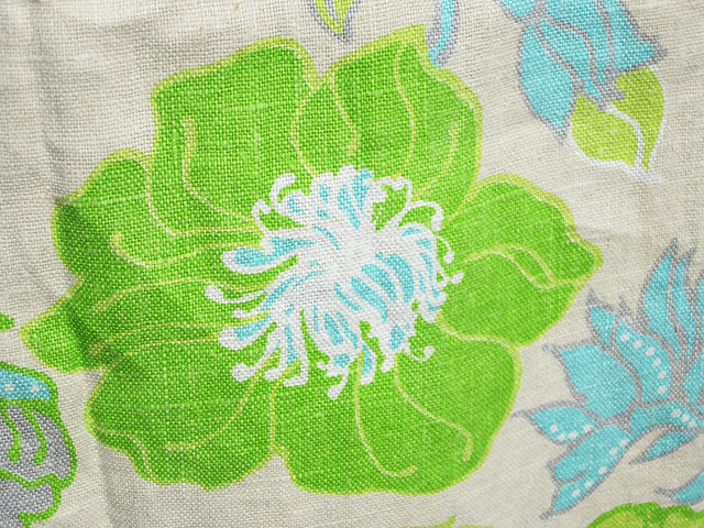 Pretty green and turquoise fabric
