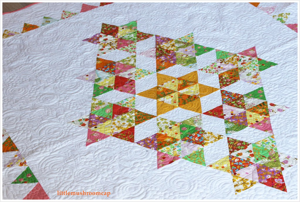 Quilt Briar Rose Starry Diamond Equilateral Triangle