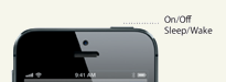 iPhone5 sleep/wake gomb