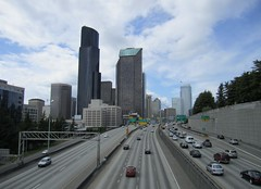 I-5 north from Yesler Way