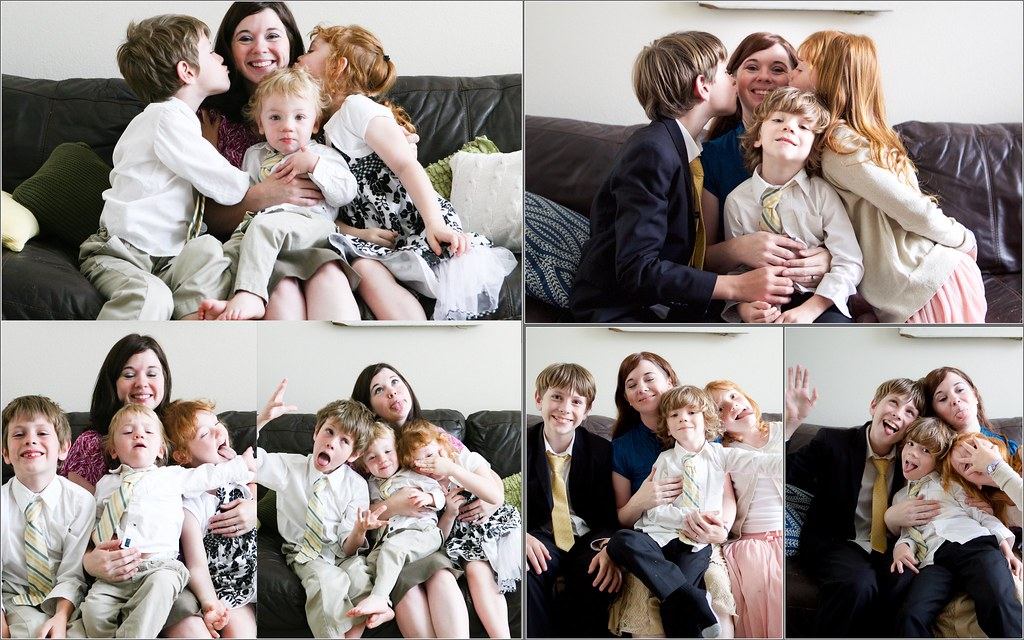 Mother and Kids Then and Now