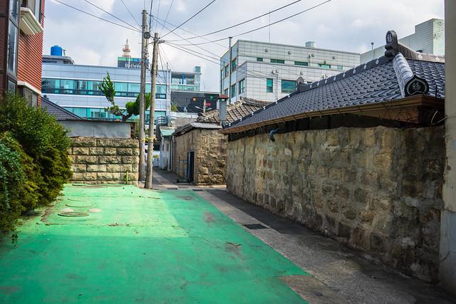 Colonial stone walls, Mokpo, South Korea