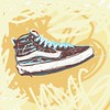 VANS shoe sketch!  I drew this with my finger.