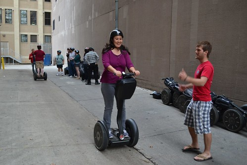 Olivia getting her Segway lesson!