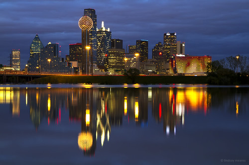 Dallas Skyline Reflection