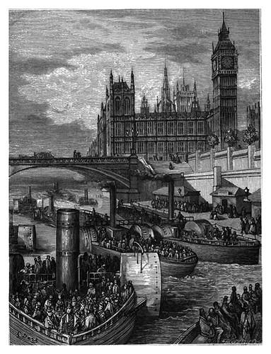 009-Westminster escaleras hacia los barcos de vapor-London A Pilgrimage 1890- Blanchard Jerrold y Gustave Doré- © Tufts Digital Library