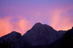 Chile - Cochamó climbing 21 - mountain sunset