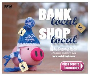 bank local, shop local campaign, St. Charles Bank & Trust, Illinois