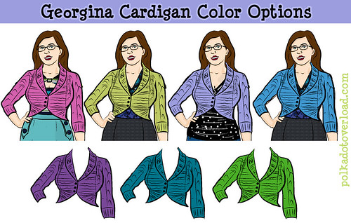 Georgina Cardigan Color Options: Which Yarn to Choose?!