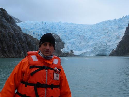 En el Glaciar de Santa Inés (Chile)