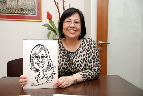 Caricature live sketching for Marks & Clerk Singapore LLP Christmas Party - 13