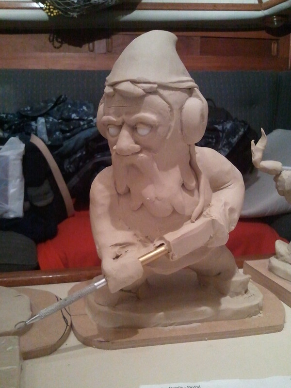 minesweeper gnome rough sculpt