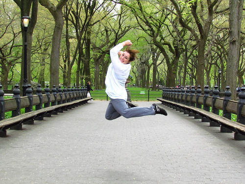 Wednesday April, 18th, 2012 Jumping in Central Park