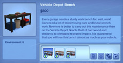 Vehicle Depot Bench