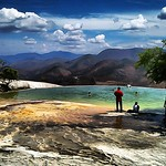 Hierve el Agua, we just took a dip #Oaxaca #Mexico