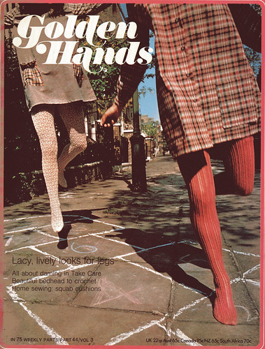 golden hands vintage knitted stockings