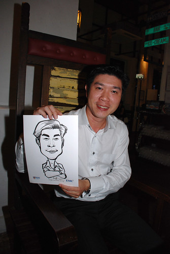 caricature live sketching for emc NUS - 13
